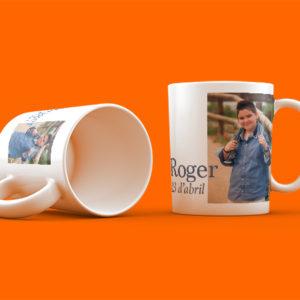 Taza personalizada para comuniones de niños
